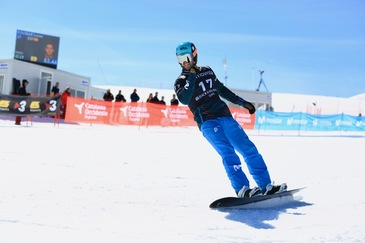 Lucas Eguibar wins the qualifying round in the FIS Snowboard Cross World Cup in Baqueira Beret