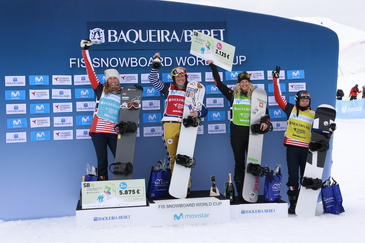 Baqueira Beret, the venue of a thrilling FIS Snowboard Cross World Cup with victories for Eva Samkova (CZE) and Alessandro Haemmerle (AUT)